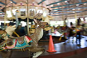 May 22, 2008. Raleigh, NC..Pullen Park entertainment.. The classic carousel.