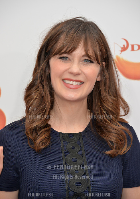 LOS ANGELES, CA. October 23, 2016: Actress Zooey Deschanel at the Los Angeles premiere of &quot;Trolls&quot; at the Regency Village Theatre, Westwood.<br /> Picture: Paul Smith/Featureflash/SilverHub 0208 004 5359/ 07711 972644 Editors@silverhubmedia.com