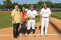 5 May 2012:  FIU catcher Iosmel Leon (13) poses with family members during the Senior Day Ceremony prior to the game.  The FIU Golden Panthers defeated the Middle Tennessee State University Blue Raiders, 12-6, at University Park Stadium in Miami, Florida.