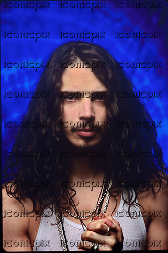 Soundgarden - Chris Cornell (Jul 20, 1964 - May 17, 2017)) - photographed at the Aragon Ballroom in Chicago, Illinois USA -  February 13, 1992.  Photo credit:  Gene Ambo/IconicPix