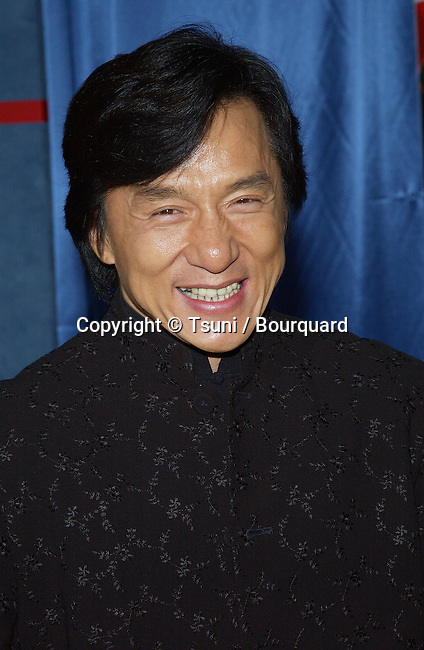Jackie Chan arriving at the premiere of SHANGHAI KNIGHT premiere at the El Captain in Los Angeles. February 2, 2003