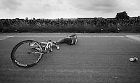 Alex Dowsett (GBR) down<br /> <br /> Eneco Tour 2013<br /> stage 2: Ardooie - Vorst (Brussel)<br /> 177km