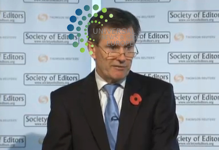 ".The head of MI6, Sir John Sawers, has described torture as ""illegal and abhorrent"" and defended the service's need for secrecy..He said his organisation faced ""real, constant operational dilemmas"" to avoid using intelligence which had been gathered by torture..He also said secrecy was ""not a dirty word"" and played ""a crucial part in keeping Britain safe and secure""..He is the first serving MI6 chief to make a public speech in its 100 years..Known in Whitehall as C, the 55-year-old was speaking at a meeting of the Society of Editors in London..Picture:  Universal News And Sport (Europe)  27 October  2010 All pictures must be credited to www.universalnewsandsport.com. (0ffice) 0844 884 51 22  ."