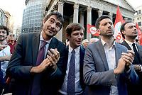 Roma, 11 Ottobre 2107<br /> Nicola Fratoianni, Giuseppe Civati, Roberto Speranza<br /> Legge elettorale, Sinistra Italiana, MDP, e Possibile in Piazza contro la fiducia.