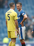 Clint Hill at full-time telling Aaron Hughes he had him in his back pocket