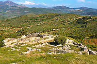 Mycenae UNESCO World Heritage  Archaeological Site, Peloponnese, Greece