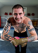 Boxer Ricky Burns in preparation for next weeks' fight - at the Fighting Scots Gym in Stepps - Picture by Donald MacLeod 27.8.10 - mobile 07702 319 738 - clanmacleod@btinternet.com