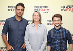 Bobby Cannavale, Cherry Jones and Daniel Radcliffe attend the cast photo call for 'The Lifespan of a Fact' at the New 42nd Street Studios on September 6, 2018 in New York City.