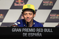 Valentino Rossi during qualifying press conference in Motorcycle Championship GP, in Jerez, Spain. April 23, 2016
