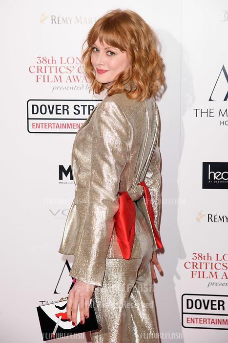 Emily Beecham at the 38th Annual London Critics' Circle Film Awards at the Mayfair Hotel, London, UK. <br /> 28 January  2018<br /> Picture: Steve Vas/Featureflash/SilverHub 0208 004 5359 sales@silverhubmedia.com