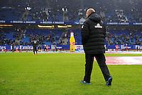 FUSSBALL   1. BUNDESLIGA   SAISON 2012/2013    19. SPIELTAG Hamburger SV - SV Werder Bremen                          27.01.2013 Trainer Thomas Schaaf (SV Werder Bremen) auf dem Platz der AOL Arena