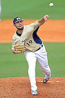 4 March 2012:  FIU pitcher R.J. Fondon (19) pitches as the FIU Golden Panthers defeated the Brown University Bears, 8-3, at University Park Stadium in Miami, Florida.