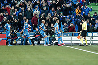 26th January 2020; Coliseum Alfonso Perez, Madrid, Spain; La Liga Football, Club Getafe Club de Futbol versus Real Betis; Angel Rodriguez (Getafe CF)  celebrates his goal from the penalty spot for 1-0 in the 89th minute