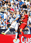 CD Leganes' Alexander Szymanowski (l) and Sevilla FC's Franco Vazquez during La Liga match. October 15,2016. (ALTERPHOTOS/Acero)