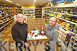 Alan Hinshellwood and Martin Stack of Stacks Off Licence in Listowel.