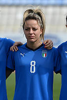 20180302 - LARNACA , CYPRUS : Italian Martina Rosucci pictured during a women's soccer game between Italy and Wales , on friday 2 March 2018 at GSZ Stadium in Larnaca , Cyprus . This is the second game in group A for Italy and Wales during the Cyprus Womens Cup , a prestigious women soccer tournament as a preparation on the World Cup 2019 qualification duels. PHOTO SPORTPIX.BE | DAVID CATRY