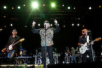 The Beach Boys in concert during the beginning of his European tour 2012. David Marks (l), Mike Love (c) and Al Jardine. Festival de Musicos en la Naturaleza - Festival musicians in nature. Hoyos del Espino (Natural Parc of Gredos), Avila, Spain .July 21,2012. (ALTERPHOTOS/Acero) (ALTERPHOTOS/Acero/*NORTEPHOTO*)