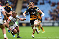 Tommy Taylor of Wasps takes on the Leicester Tigers defence. Gallagher Premiership match, between Wasps and Leicester Tigers on September 16, 2018 at the Ricoh Arena in Coventry, England. Photo by: Patrick Khachfe / JMP