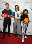 Jeremy Hays, Alysia Reiner and Daphne Rubin-Vega during the 8th Annual Paul Rudd All-Star Benefit for SAY at Lucky Strike Lanes  on November 11, 2019 in New York City.