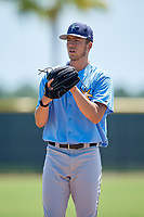 Tampa Bay Rays starting pitcher Matthew Liberatore (32) during a Minor League Extended Spring Training game against the Atlanta Braves on April 15, 2019 at CoolToday Park Complex in North Port, Florida.  (Mike Janes/Four Seam Images)