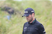 Cormac Sharvin (NIR) walks off the 18th tee during Saturday's Round 3 of the Dubai Duty Free Irish Open 2019, held at Lahinch Golf Club, Lahinch, Ireland. 6th July 2019.<br /> Picture: Eoin Clarke | Golffile<br /> <br /> <br /> All photos usage must carry mandatory copyright credit (© Golffile | Eoin Clarke)