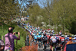 The peleton in action during La Fleche Wallonne 2018 running 198.5km from Seraing to Huy, Belgium. 18/04/2018.<br /> Picture: ASO/Karen Edwards | Cyclefile <br /> <br /> All photos usage must carry mandatory copyright credit (&copy; Cyclefile | ASO/Karen Edwards)