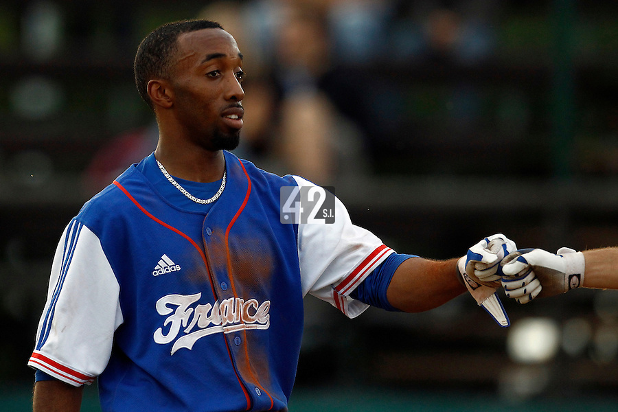 21 June 2011: Felix Brown of Team France is seen during Czech Republic 3-1 win over France, at the 2011 Prague Baseball Week, in Prague, Czech Republic.