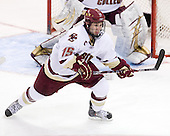 Joe Whitney (BC - 15) - The Boston College Eagles defeated the University of Massachusetts-Amherst Minutemen 5-2 on Saturday, March 13, 2010, at Conte Forum in Chestnut Hill, Massachusetts, to sweep their Hockey East Quarterfinals matchup.