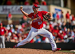 24 February 2019: St. Louis Cardinals top prospect pitcher Seth Elledge on the mound during a Spring Training game against the Washington Nationals at Roger Dean Stadium in Jupiter, Florida. The Cardinals fell to the Nationals 12-2 in Grapefruit League play. Mandatory Credit: Ed Wolfstein Photo *** RAW (NEF) Image File Available ***