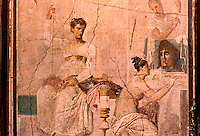 Roman Art:  Fresco--La Pittrice, scea di genere (affresco antico).  National Museum, Naples.
