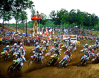 The start of the 450 class during the Lucas Oil AMA Pro Motocross at Budds Creek National in Mechanicsville, Maryland on Saturday, June 18, 2011. Alan P. Santos/DC Sports Box