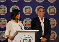 Manifestazione elettorale di Forza Italia a sostegno del candidato sindaco del centrodestra nelle prossime elezioni amministrative<br /> Mara Carfagna e   Gianni Lettieri