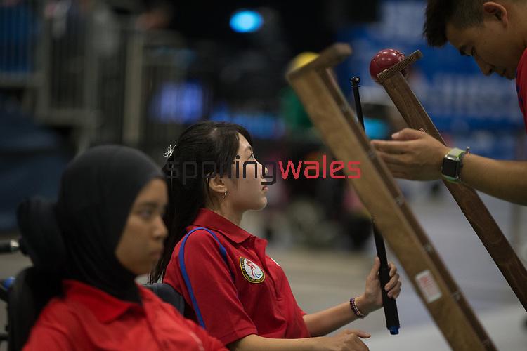 Yuen Kei Ho (HKG)<br /> BISFed 2018 World Boccia Championships <br /> Exhibition Centre Liverpool<br /> 12.08.18<br /> &copy;Steve Pope<br /> Sportingwales