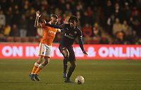 Arsenal's Alex Iwobi shields the ball from Blackpool's Jay Spearing<br /> <br /> Photographer Stephen White/CameraSport<br /> <br /> Emirates FA Cup Third Round - Blackpool v Arsenal - Saturday 5th January 2019 - Bloomfield Road - Blackpool<br />  <br /> World Copyright © 2019 CameraSport. All rights reserved. 43 Linden Ave. Countesthorpe. Leicester. England. LE8 5PG - Tel: +44 (0) 116 277 4147 - admin@camerasport.com - www.camerasport.com