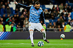 Karim Benzema of Real Madrid warms up during La Liga match between Real Madrid and Athletic Club de Bilbao at Santiago Bernabeu Stadium in Madrid, Spain. December 22, 2019. (ALTERPHOTOS/A. Perez Meca)