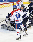 Patrick Cey (Lowell - 19), Blake Kessel (UNH - 20) - The visiting University of New Hampshire Wildcats defeated the University of Massachusetts-Lowell River Hawks 3-0 on Thursday, December 2, 2010, at Tsongas Arena in Lowell, Massachusetts.