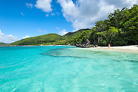 Little Cinnamon Beach looking towards Cinnamon Bay<br /> Virgin Islands National Park<br /> St. John, U.S. Virgin Islands