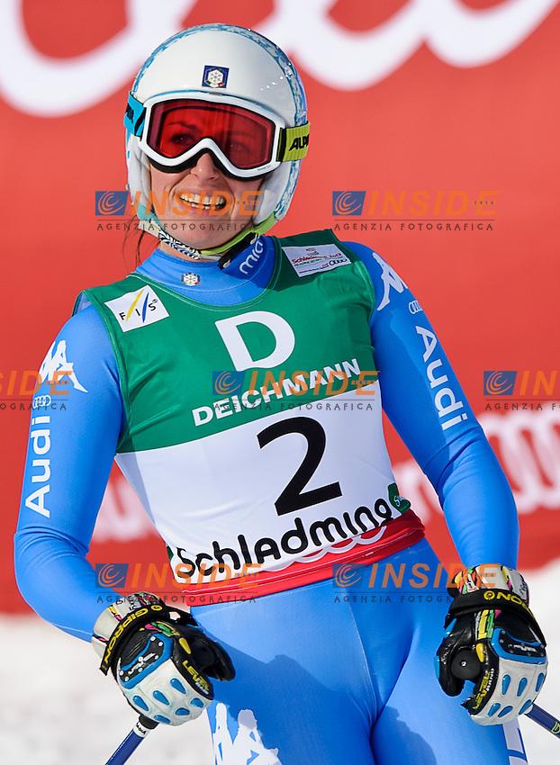 Nadia Fanchini Italia medaglia d'argento.PhotoCredit: EXPA/ Sandro Zangrando .Schladming 10/2/2013 .Mondiali Sci 2013.Discesa Libera Donne.Foto Insidefoto - ITALY ONLY