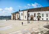 PORTUGAL, Coimbra, People are walking outside Coimbra University and Library
