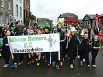 Albion Rovers at the Drogheda St Patrick's day parade. Photo:Colin Bell/pressphotos.ie