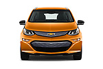 Car photography straight front view of a 2017 Chevrolet Bolt-EV Premier 5 Door Hatchback Front View