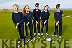 Students from Caherlaheen NS enjoying day out in Tralee Golf club on Thursday.<br /> L to r: Sean O&rsquo;Brosnan, Amelia O&rsquo;Brusnik, Darragh O&rsquo;Callaghan, Sophie O&rsquo;Donoghue and Cian Caplis.