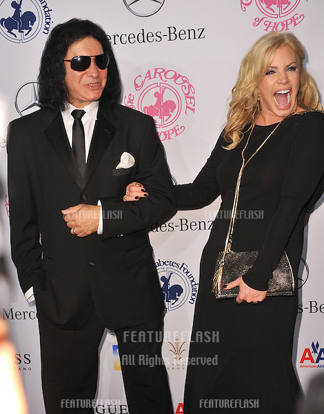 KISS star Gene Simmons & wife Shannon Tweed at the 26th Carousel of Hope Gala at the Beverly Hilton Hotel..October 20, 2012  Beverly Hills, CA.Picture: Paul Smith / Featureflash