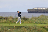 Stuart Bleakley (Shandon Park) on the 4th tee during Matchplay Round 1 of the South of Ireland Amateur Open Championship at LaHinch Golf Club on Friday 22nd July 2016.<br /> Picture:  Golffile | Thos Caffrey<br /> <br /> All photos usage must carry mandatory copyright credit   (© Golffile | Thos Caffrey)