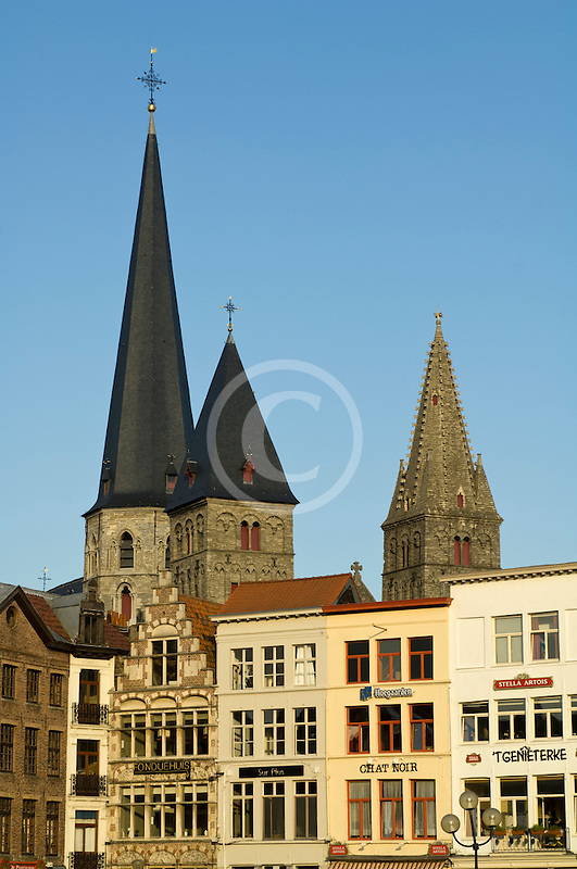 Belgium, Ghent, Church towers