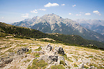 Corsica, France, GR Footpath, GR20, Hiking Trail down spine of Corsica, Monte 'd Oro,  Europe, Mediterranean Islands,