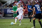 Bayern Munich Midfielder Niklas Dorsch (L) in action during the International Champions Cup match between FC Bayern and FC Internazionale at National Stadium on July 27, 2017 in Singapore. Photo by Marcio Rodrigo Machado / Power Sport Images