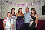 Amy Clinton with her family at her 21st in the Star and Crescent...Picture Jenny Matthews/Newsfile.ie