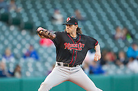 Nashville Sounds pitcher Barry Zito (34) winds up for a pitch in a Pacific Coast League game against the Oklahoma City Dodgers at Chickasaw Bricktown Ballpark on April 15, 2015 in Oklahoma City, Oklahoma. Oklahoma City won 6-5. (William Purnell/Four Seam Images)