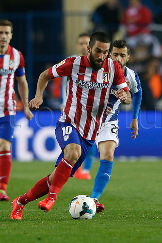 15.03.2014. Madrid, Spain. La Liga football. Atletico Madrid versus Espanyol at Vicente Calderon stadium.  Arda Turan (Turkish midfielder of At. Madrid)